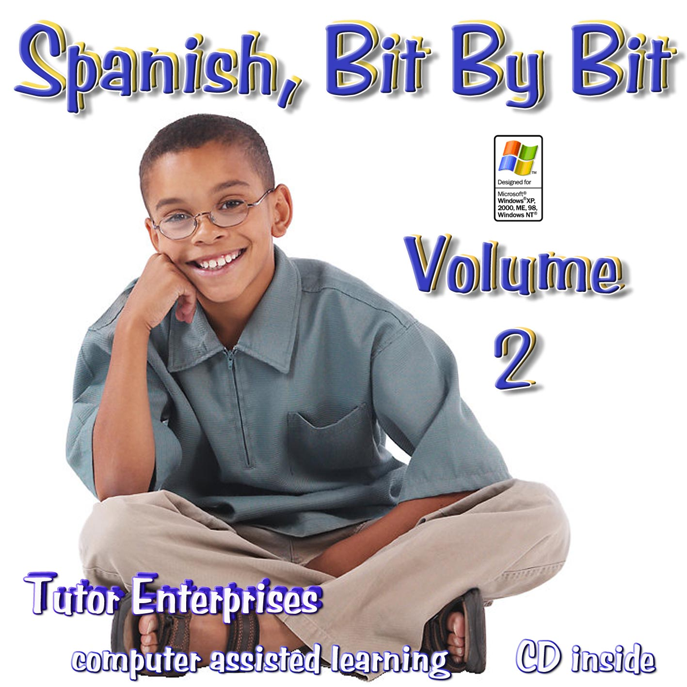 Software for learning Spanish Vol 2 beginner middle/high school to adult  with lessons,